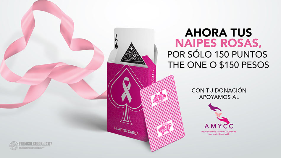 Adquiere tus NAIPES ROSAS por sólo 150 Puntos The One