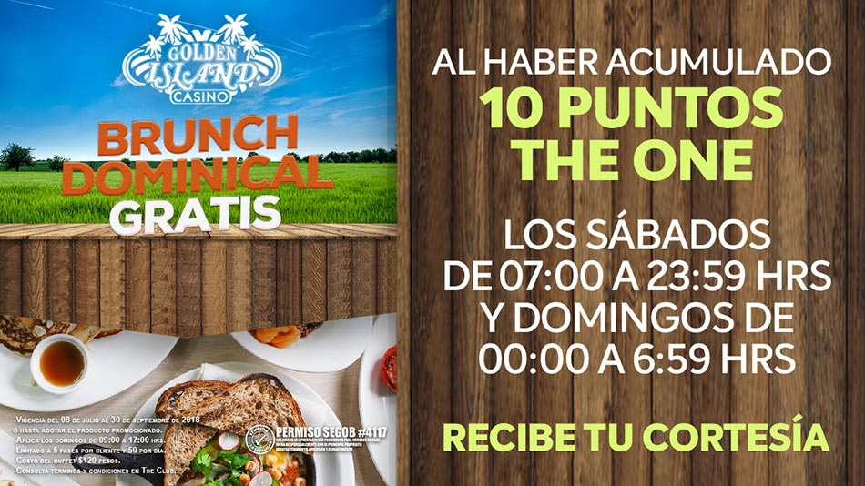 BRUNCH DOMINICAL GRATIS